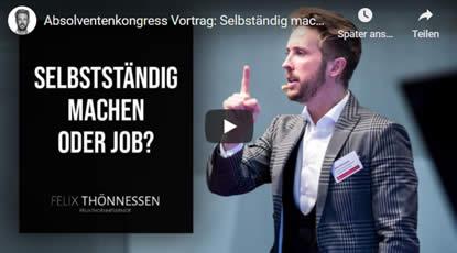 Absolventenkongress Vortrag_ Selbständig machen oder Job