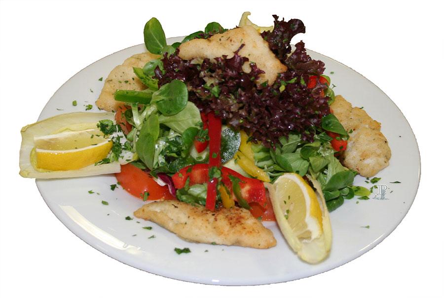 Fitness-Salat-Fisch