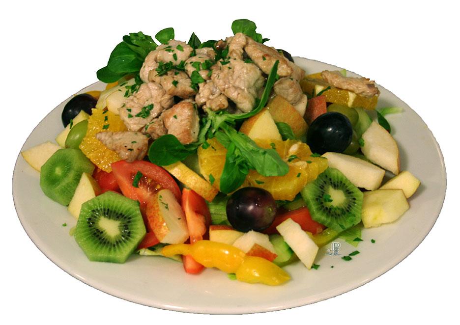Fitness-Salat-Putenstreifen